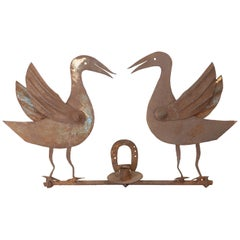 Antique Folk Art Geese Sconce
