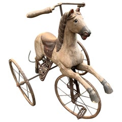 Antique Folk Art Horse Tricycle