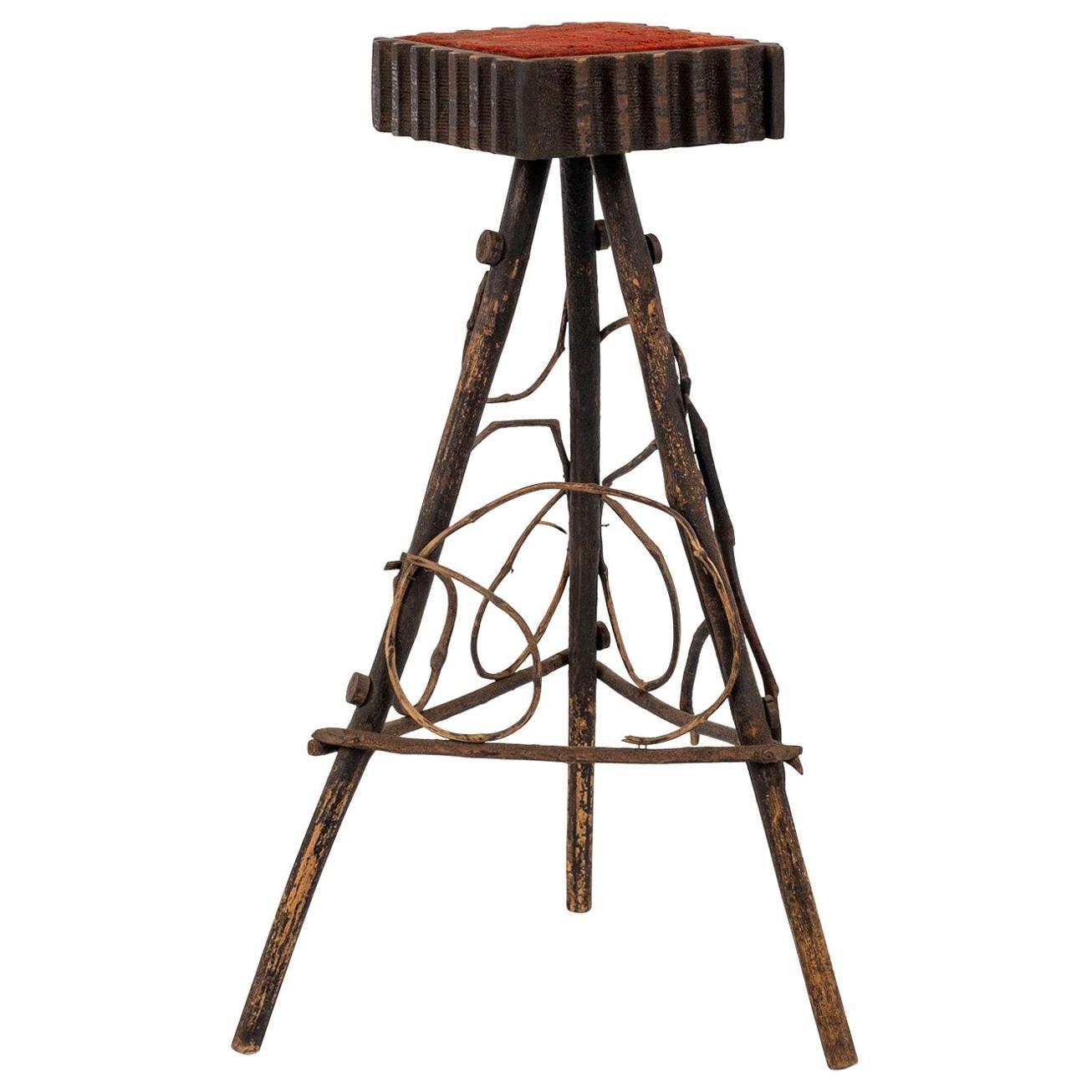 Antique Folk Art Twig Stand