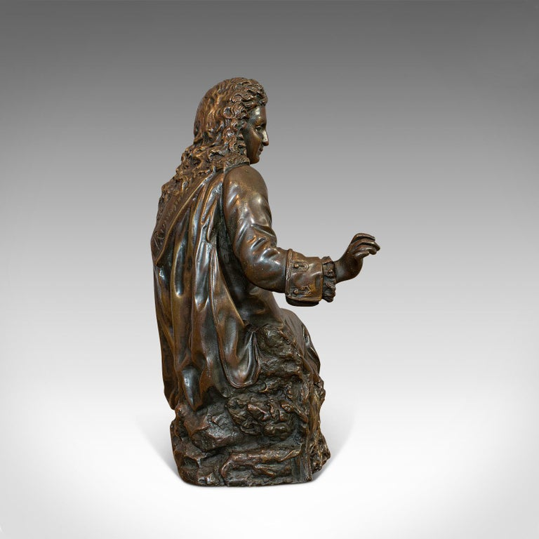 20th Century Antique Fontaine Figure, French, Bronze, Statue, After Ernest Rancoulet For Sale