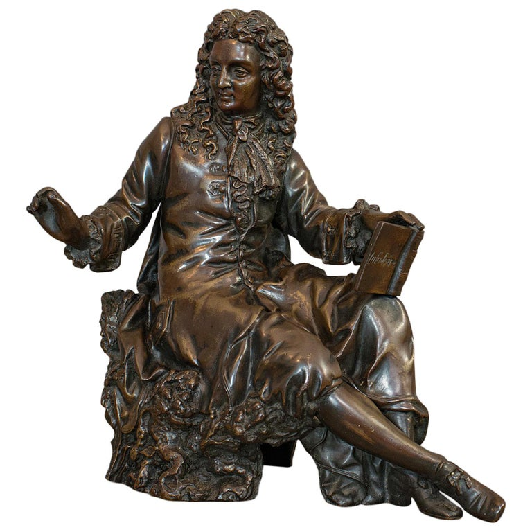 Antique Fontaine Figure, French, Bronze, Statue, After Ernest Rancoulet For Sale