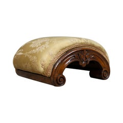 Footstool, English, Victorian, Dome-Topped, Walnut, Carriage Stool, circa 1840