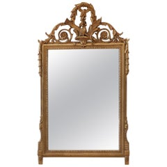 Antique French Louis XV Style Giltwood Mirror