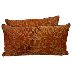 Antique Fortuny Pillows, Pair