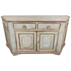 Antique, Four Door, Painted Tuscan Buffet