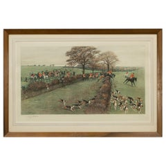 Antique Fox Hunting Print by Cecil Aldin 'South Berks Hunt'