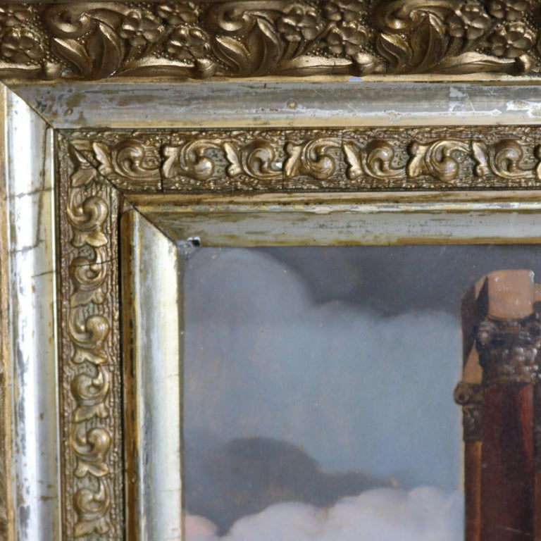 Antique Framed Continental Oil on Canvas Genre Scene with Figures, circa 1890 For Sale 2