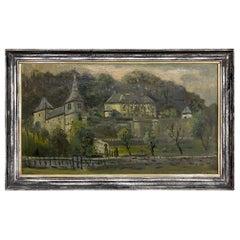 Antique Framed Oil Painting by Christoffel Hendrik Dijkman