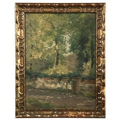 Antique Framed Oil Painting on Board by Jef Riket