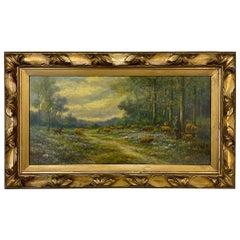 Antique Framed Oil Painting on Board by Paul Schouten