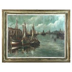 Antique Framed Oil Painting on Canvas by A. Singler