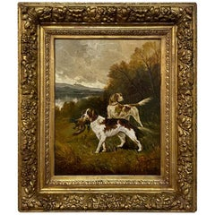 Antique Framed Oil Painting on Canvas by Albert Caullet