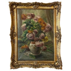 Antique Framed Oil Painting on Canvas by Clerens