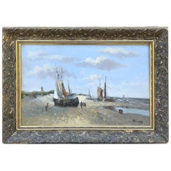 Antique Framed Oil Painting on Canvas by Dauwes