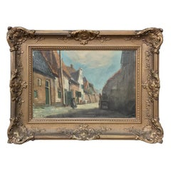 Antique Framed Oil Painting on Canvas by De Zeeuw