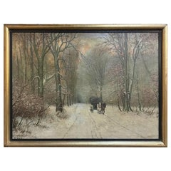 Antique Framed Oil Painting on Canvas by G. C. Hansen