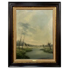 Antique Framed Oil Painting on Canvas by Geert De Wulf