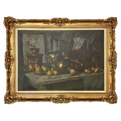 Antique Framed Oil Painting on Canvas by Jules De Corte
