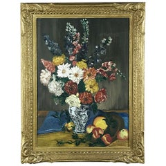 Antique Framed Oil Painting on Canvas by L. Vanderweyde