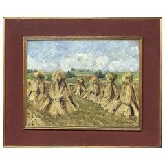Antique Framed Oil Painting on Canvas by L. Vanvalsem