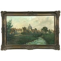 Antique Framed Oil Painting on Canvas by Lauwers