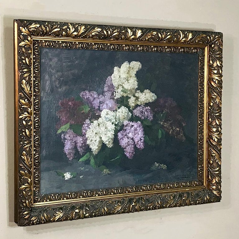 Expressionist Antique Framed Oil Painting on Canvas by Louise Hiertz-Beer, circa 1923 For Sale