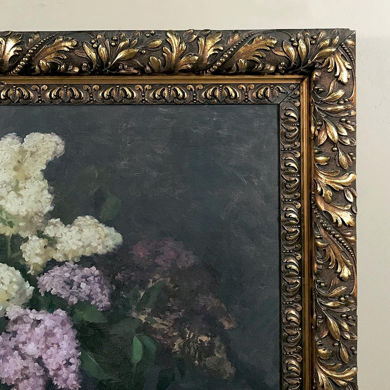 Early 20th Century Antique Framed Oil Painting on Canvas by Louise Hiertz-Beer, circa 1923 For Sale
