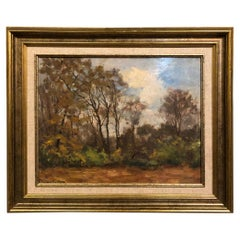 Antique Framed Oil Painting on Canvas by Ludovic Janssen