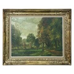 Antique Framed Oil Painting on Canvas by Van den Eynde