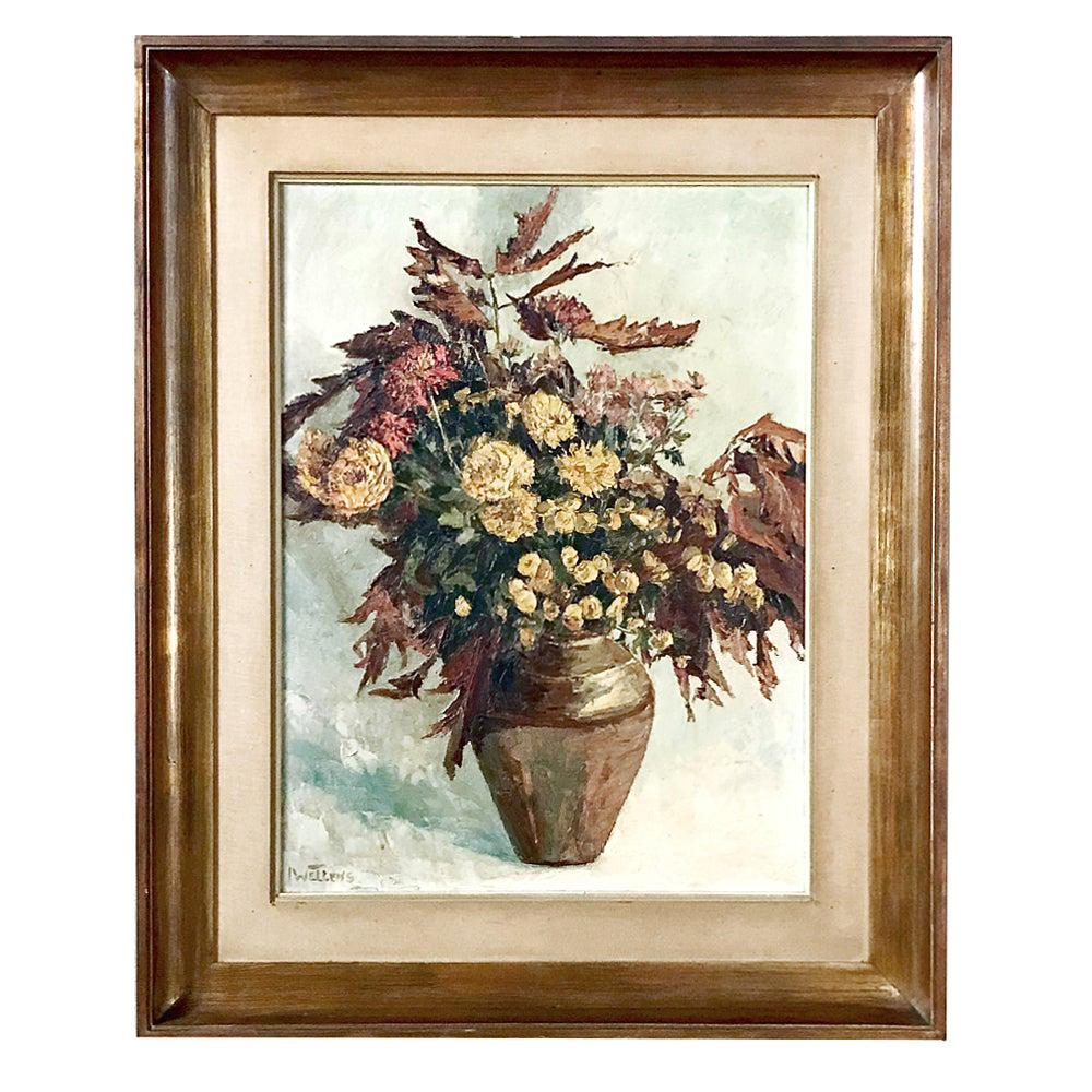 Antique Framed Oil Painting on Canvas by Wellens