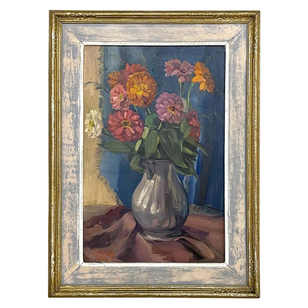 Antique Framed Oil Painting on Canvas by Zollepx
