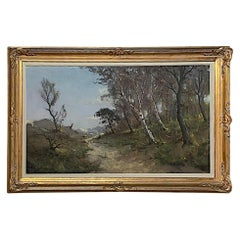 Antique Framed Pastel Painting by Gastin Cox