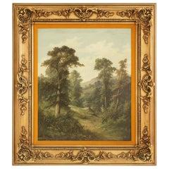 Antique Framed Signed Oil Painting, Landscape, John Henry Boel 1853-1922, B712