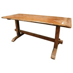 "Antique ""Fratino"" Brown Larch Wood Table, Rustic, 1800, Italy"