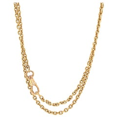 Antique French 18 Karat Gold Long Guard Chain