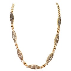 Antique French 18 Karat Rose Gold Chain Necklace