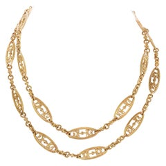 Antique French 18 Karat Yellow Gold Chain Necklace