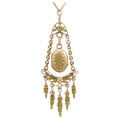 Antique French 1880s Yellow and Rose Gold Locket
