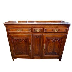 Antique French 19 th century buffet from alsace
