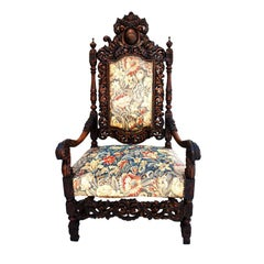 Antique French 19 th century throne chair