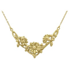 Antique French 1920s Yellow Gold Necklace