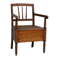 Antique French 19th Century Armchair, Potty Chair