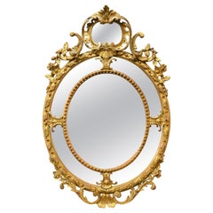 Antique French 19th Century Gold Mirror