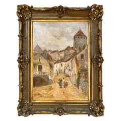 Antique French 19th Century Impressionist Oil Painting by Edmond Petitjean