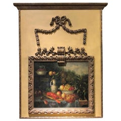 Antique French 19th Century Louis XIV Panel Trumeau