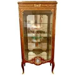 Antique French 19th Century Vitrine with Exquisite Bronze and Wedgwood