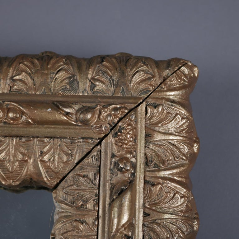 Antique French Acanthus Form Giltwood Wall Mirror, 19th Century For Sale 1
