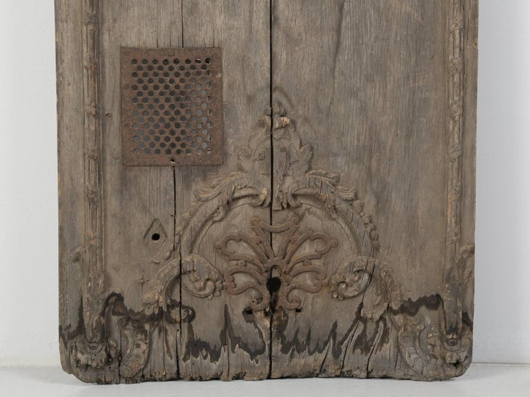 Antique French Architectural Panel or Door, in Original Paint 3