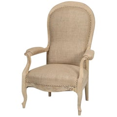 Antique French Armchair Restored Structurally and Left Cosmetically Bare Naked