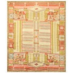 Antique French Art Deco Carpet. Size: 7 ft 9 in x 10 ft (2.36 m x 3.05 m)